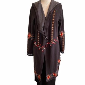Anthropologie Caite Aztec Embroidered Cardigan Med
